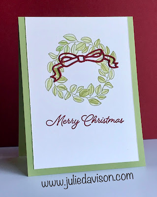 Stampin' Up! Blended Seasons Christmas Card ~ www.juliedavison.com