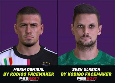 PES 2017 Faces Sven Ulreich & Merih Demiral by Kodigo
