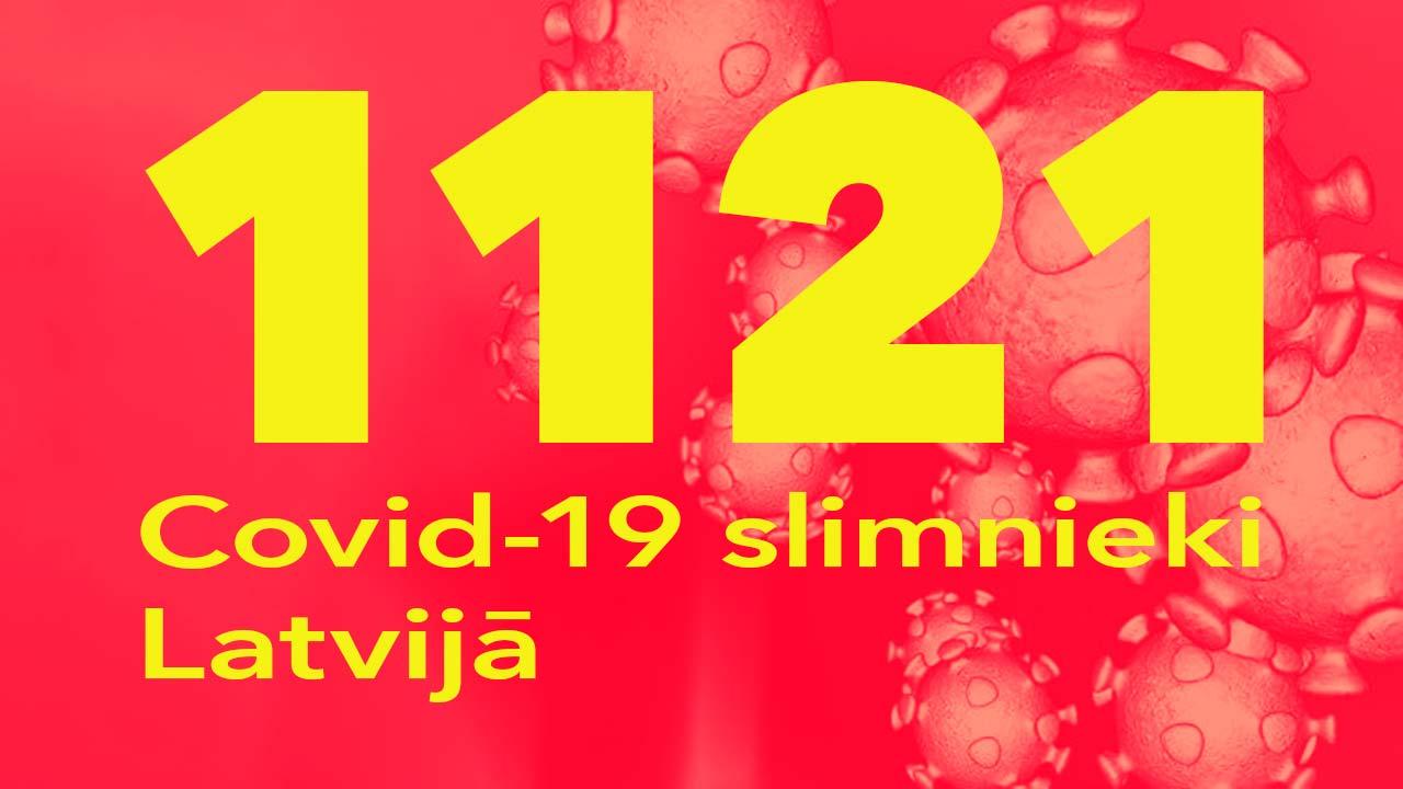 Koronavīrusa saslimušo skaits Latvijā 01.07.2020.