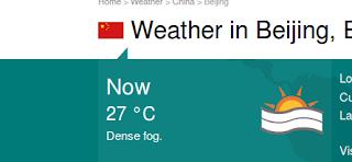 Temperatura en Beijing