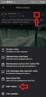 cara copy url video facebook di android