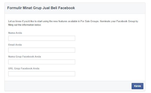 Formulir Minat Grup Jual Beli Facebook.