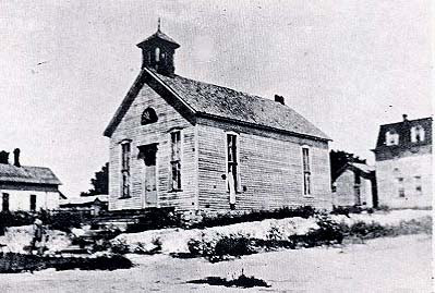 old church from dodge city in late 1800s