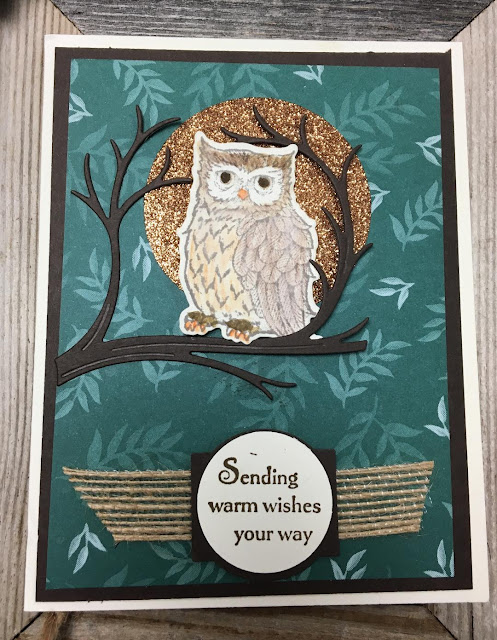 Stampin' Up!, Still Night, Night Owl Thinlits, Glimmer Paper
