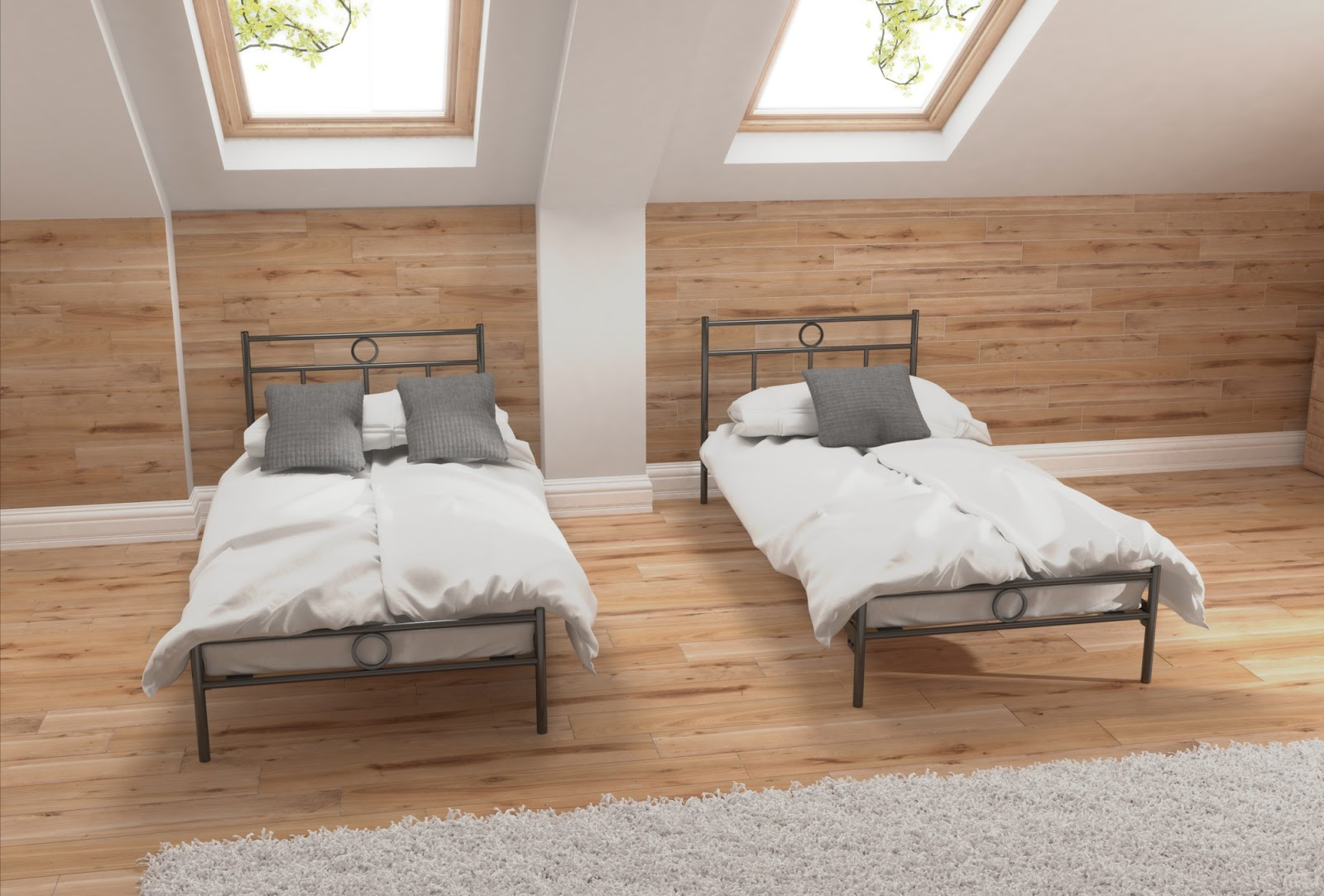 Łóżko metalowe wzór 13J