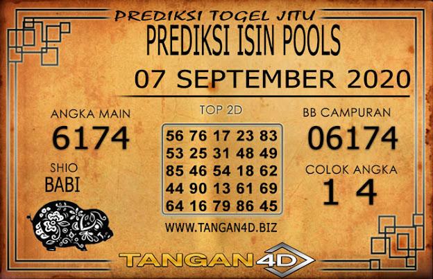 PREDIKSI TOGEL ISIN TANGAN4D 07 SEPTEMBER 2020