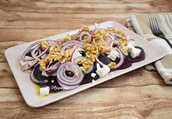 Ensalada de Remolacha, Queso de Cabra, Frutos secos y Vinagre de Manzana. Vídeo Receta