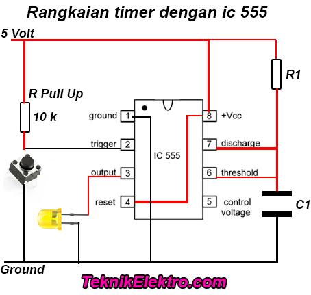 Rangkaian timer dengan ic 555