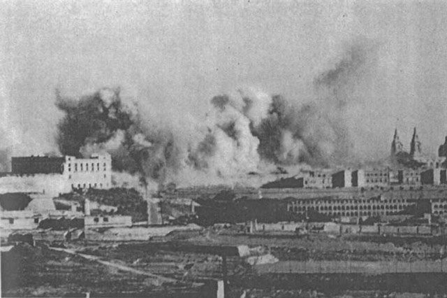Manila being bombed, 24 April 1942 worldwartwo.filminspector.com