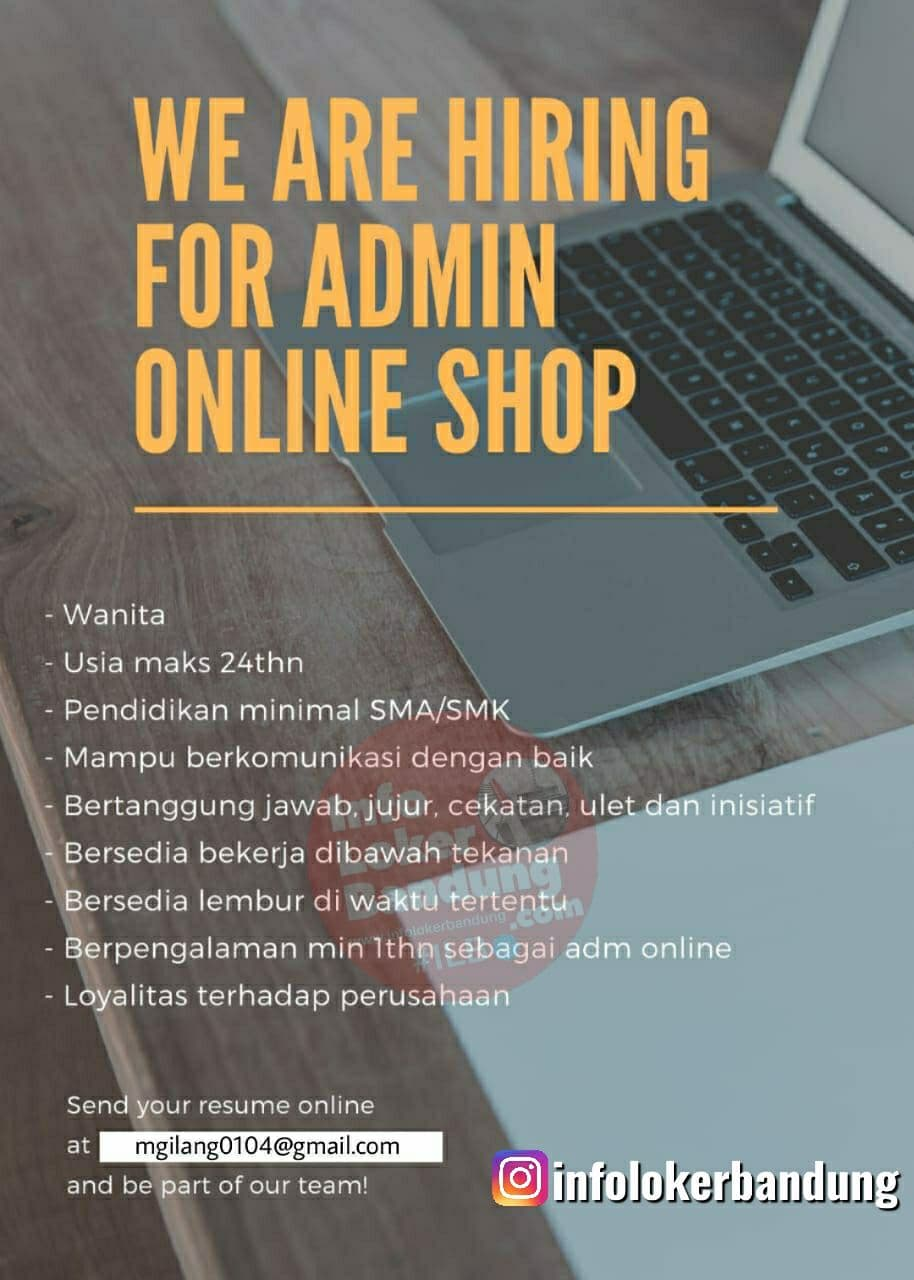 Lowongan Kerja Admin Online Shop Haritama Group Bandung Juni 2021