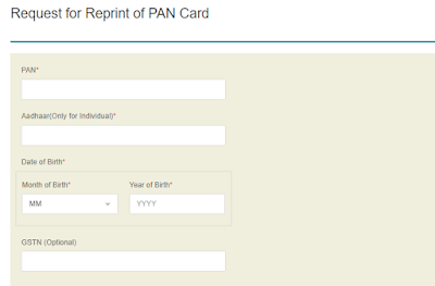 pan card reprint nsdl
