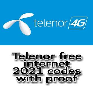 Telenor free internet code 2021