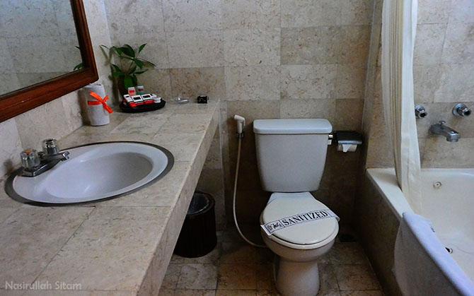 Penampakan kamar mandinya