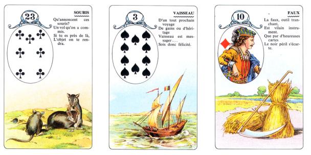 Oráculo Lenormand Lectura de 3 cartas