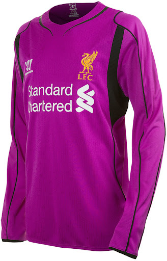 4e3981022 The new Liverpool 2014-15 Goalkeeper Home Shirt is based on the same  template as the Home Kit and comes in purple with black accents.