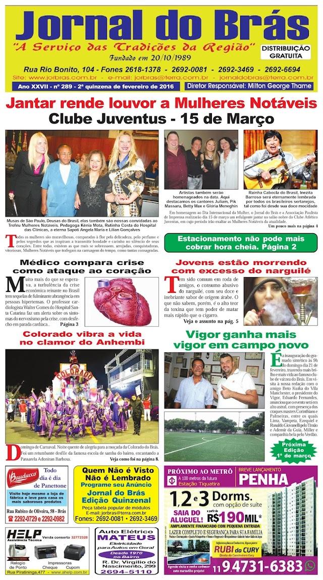 Destaques da Ed. 289 - Jornal do Brás