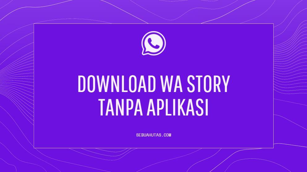 cara download wa story tanpa install aplikasi