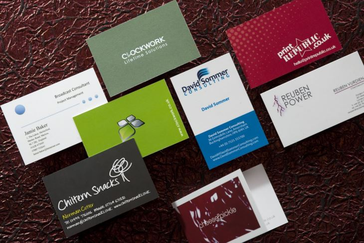 Manufacturing of business cards