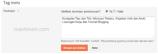 Tag Meta Blogger
