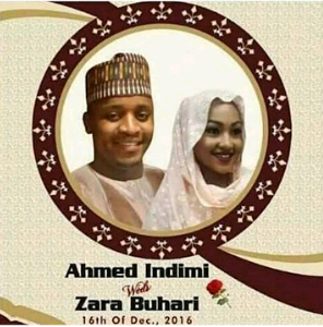 zahra buhari wedding aso rock