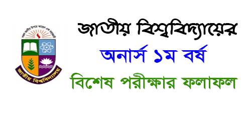 Honours 1st Year Special Exam Result 2019