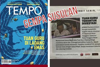 KPK Selidiki Dugaan Rasuah Kasus Divestasi yang Libatkan TGB, Inikah Penyebab Dukung Jokowi???