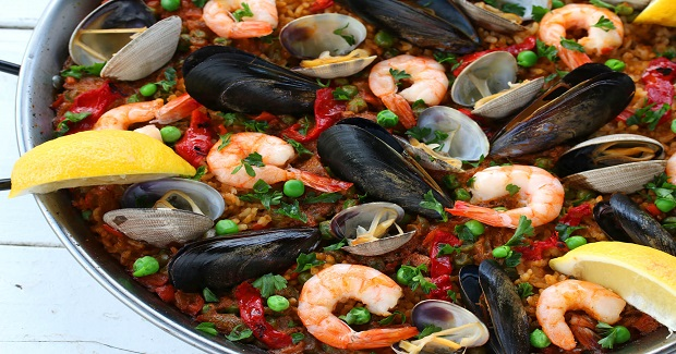 Seafood Paella (Paella De Marisco) Recipe