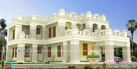 Colonial home design decorative