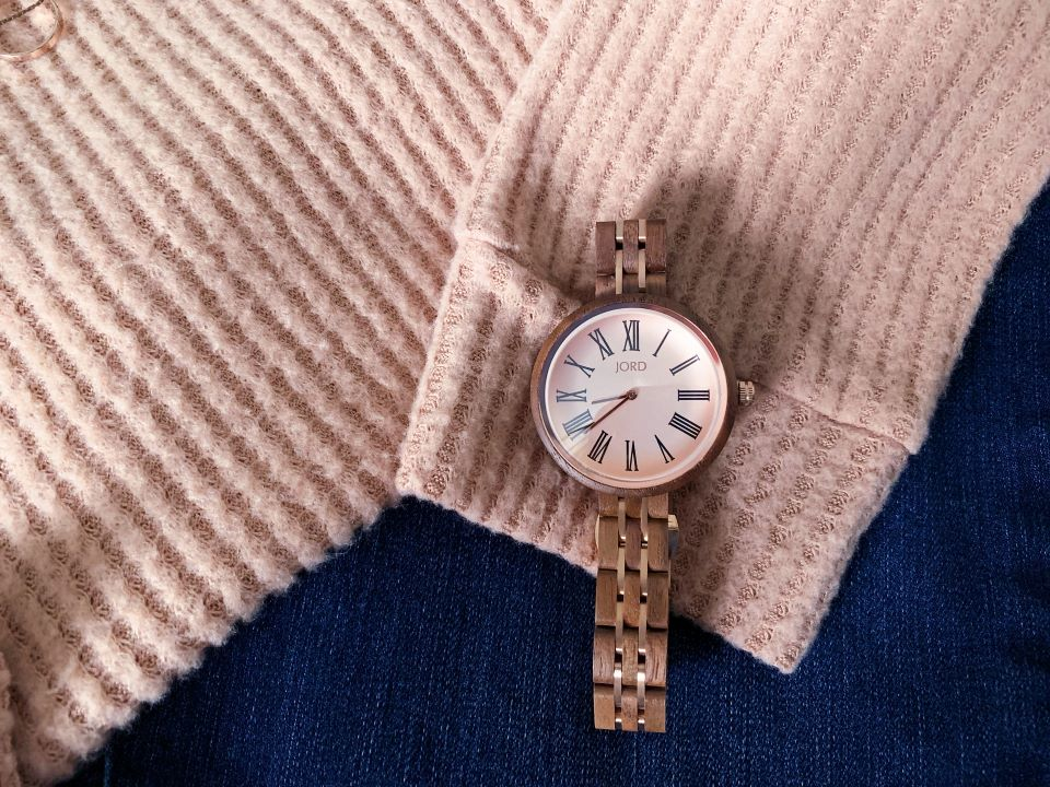 The Cassia in Walnut & Vintage Rose by #JordWatches #ad