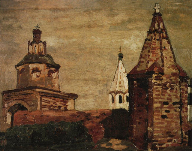 Николай Рерих - Суздаль. Монастырь Александра Невского. 1903