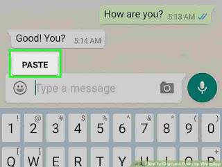 Saat anda sedang asik chatting dengan teman anda, sampai tarusan chat, pasti anda pernah teman anda mengirimkan pesan banyak, ada salah satu informasi yang penting seperti, chat pembelajaran dan informasi tanggal, bagaimana anda menyalin itu semua ?