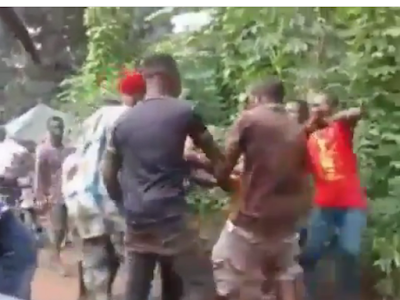 More Than Seven Men Seen Fighting For a Goat in Anambra Stat. Video