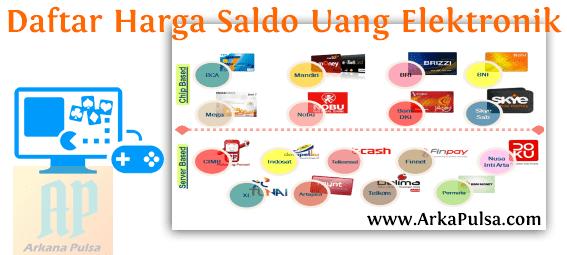 Daftar Harga Top Up Isi Saldo Uang Elektronik (e-money & e-wallet) Server Arkana Pulsa CV Sinar Surya Suryandaru Blora