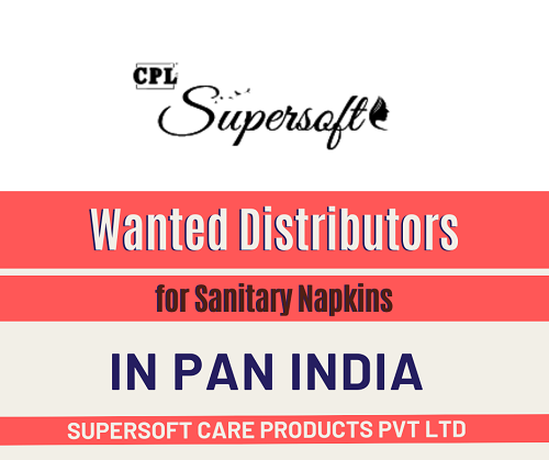 Wanted Distributors for Sanitary Napkins in Pan India