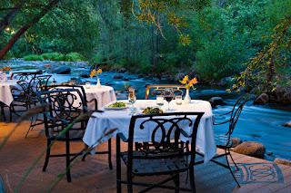cress restaurant, l'auberge de Sedona, creekside dining