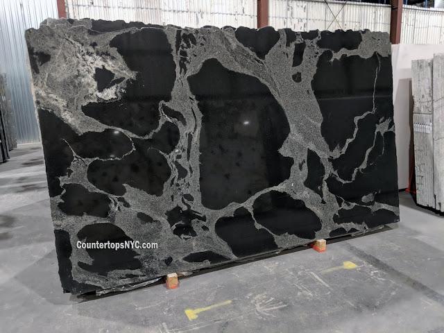 Python Black Natural Stone Granite Slab NYC