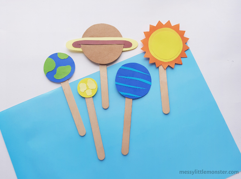 planet popsicle stick craft for kids