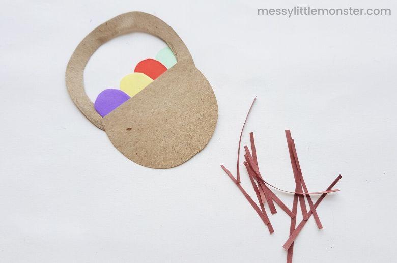 Easter basket puppet craft
