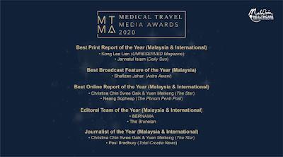 Jom Sertai Medical Travel Media Awards 2020