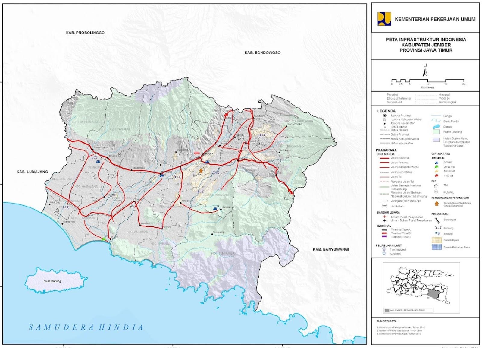 Peta Kabupaten Jember HD