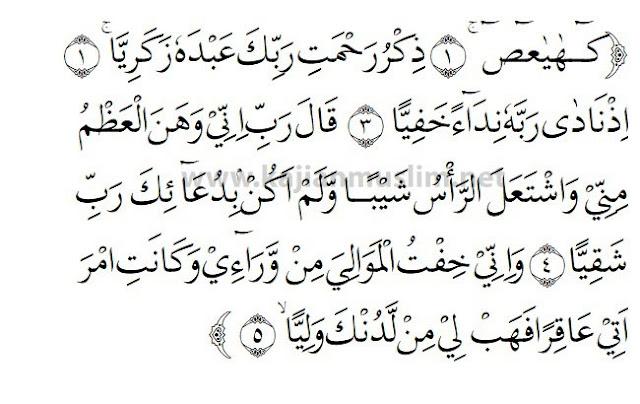 Surat Maryam Ayat 1-5