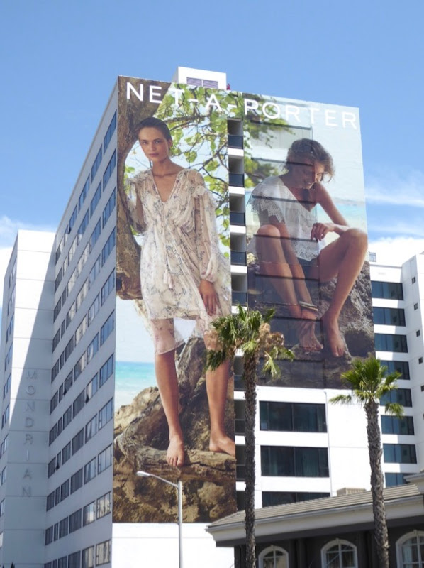 Giant NetAPorter summer 2017 fashion billboard