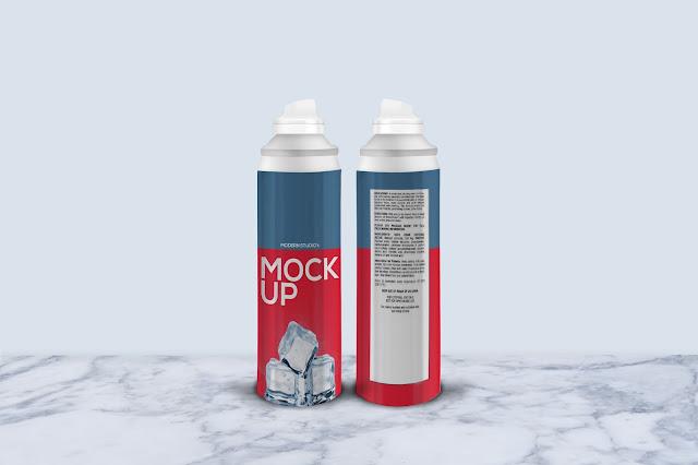 Shaving Foam Bottle Mock-Up CM