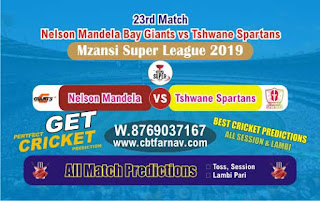 Mzansi Super League Tshwane vs Nelson 23rd Today Match Prediction Reports
