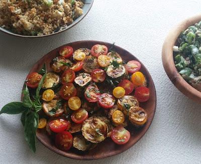 Zucchini & Tomato Salad with Basil & Balsamic Vinegar