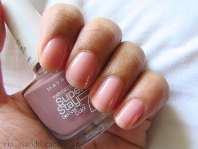 Maybelline SuperStay Gel Polish review, Maybelline SuperStay Gel Polish Rose Poudre review