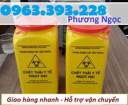 Hộp đựng vật sắc nhọn y tế 1.5 Lít, bình hủy kim tiêm y tế, bình đựng bơm tiêm H%25C4%2590KT1.5L6