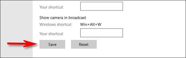 """في إعدادات Windows ، انقر على """"حفظ""""."""
