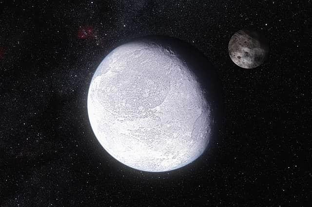 Artist's impression of Eris and its moon Dysnomia