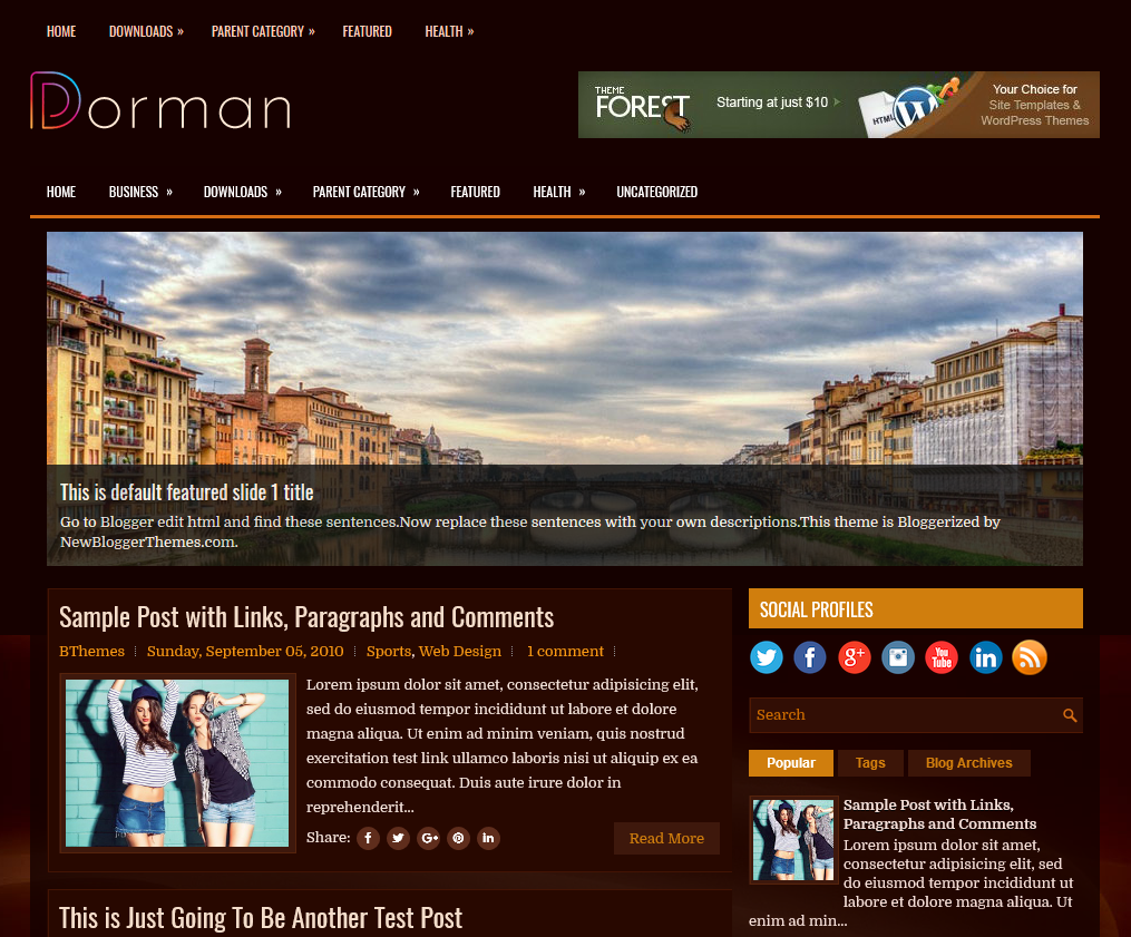 columns blogger topic to supply a fresh await for your weblog Free Download Dorman Blogger template